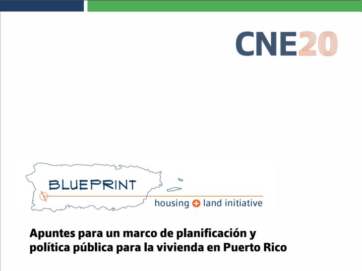 CNE lanza nueva iniciativa: Blueprint