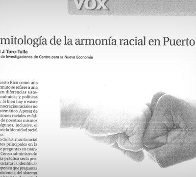 La mitología de la armonía racial en Puerto Rico