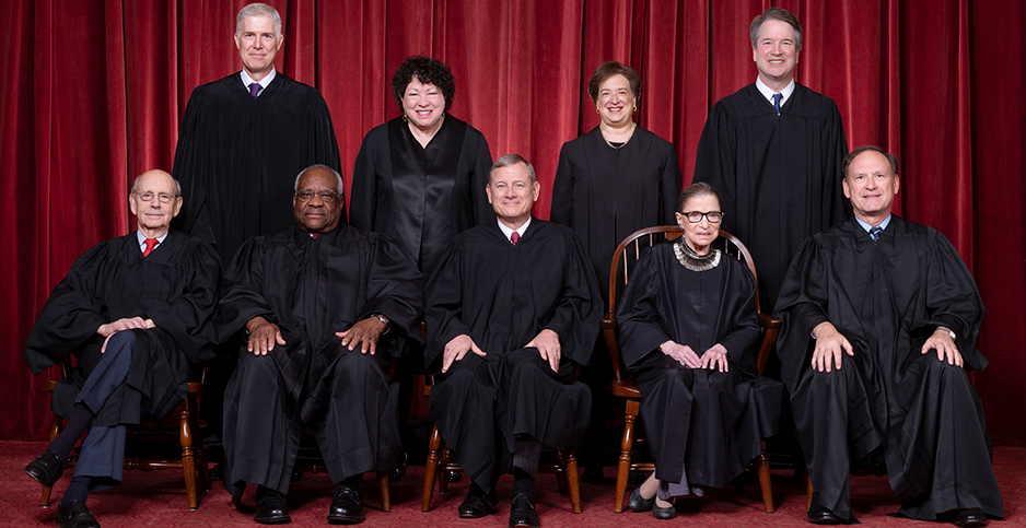 9 justices U.S. Supreme Court